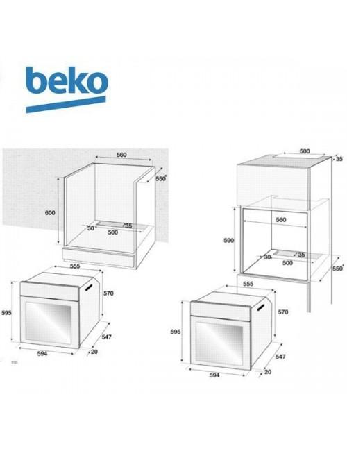 Conjunto horno multifunción + Inducción Beko BSE22341X