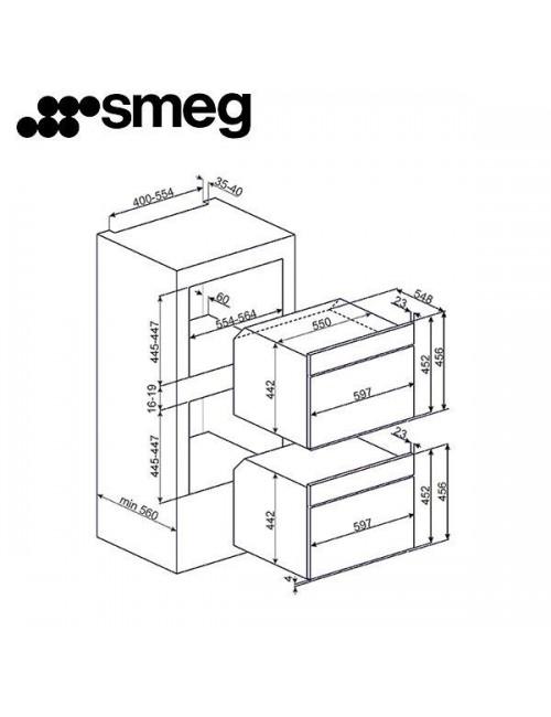 Horno compacto con microondas SMEG SF4920MCB