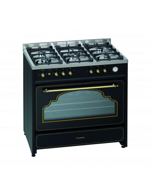 Cocina rústica de gas MEIRELES G 914 BL