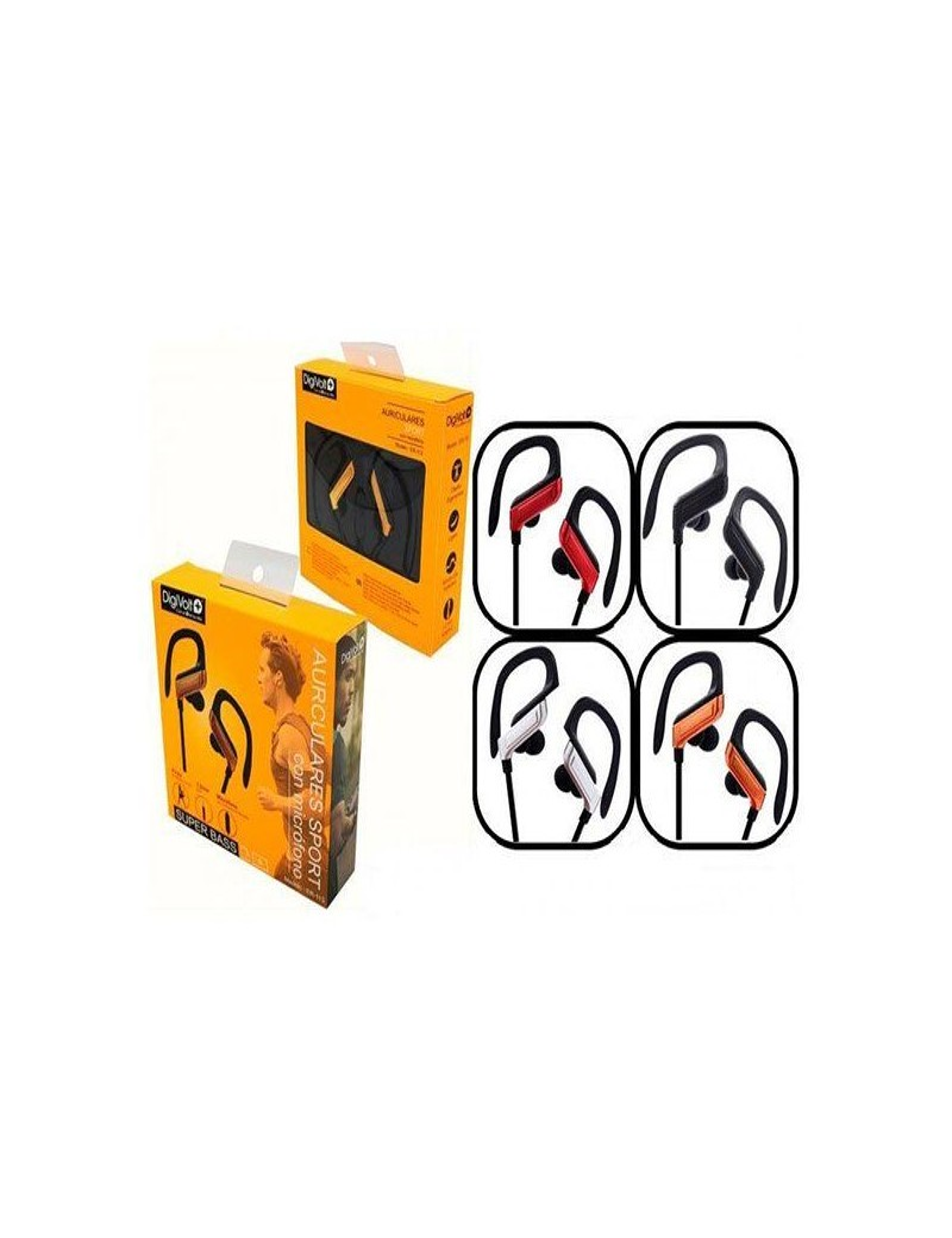 Auriculares deportivos DIGIVOLT ER-113 con micro y pinza
