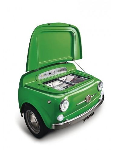 Frigorífico Coche Smeg SMEG500V Verde Fiat 500 74cm A+++ Años 50 Style