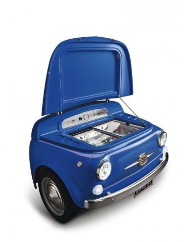 Frigorífico Coche Smeg SMEG500BL Azul Fiat 500 74cm A+++ Años 50 Style