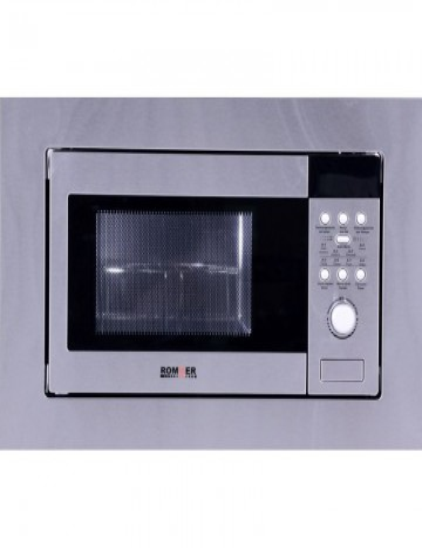 Microondas Integrable Rommer MGI 800 20L Inox Grill 1000W Encastrable