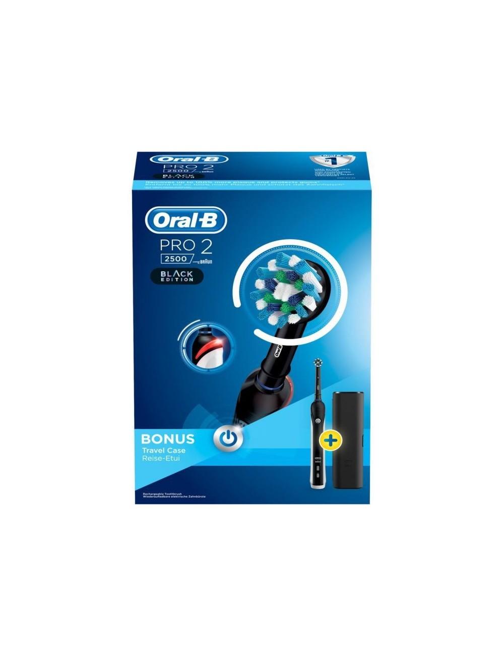 Cepillo de dientes Oral-B PRO 2500 Action Negro Braun estuche viaje
