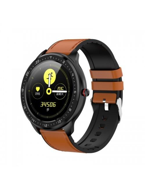 Reloj Smartwatch DCU Full Touch 2 correas marrón/silicona negro 34157010 Resistente Agua