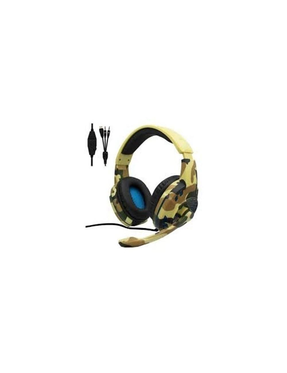 Auriculares Gaming Myo MY4060D Camuflaje Juegos Micrófono