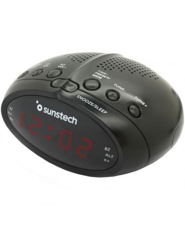 Radio Despertador Digital Sunstech FRD17BK Negro