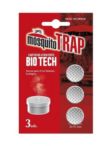 Cartuchos antimosquitos Jata MCAR0120 Bio Tech BIO 3 Ud Recambio