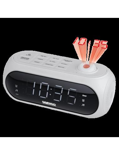 Radio reloj despertador Daewoo DCP-490W Proyector Blanco