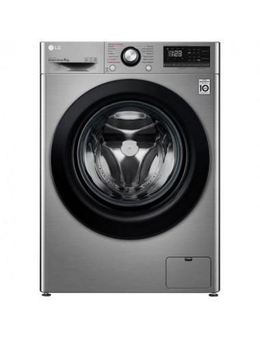 Lavadora Carga Frontal LG F2WV5S85S2S 8,5Kg 1200RPM Inox AI Direct Drive C