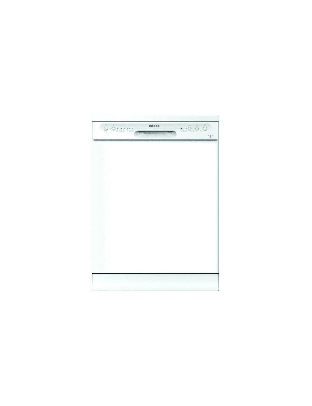Lavavajillas Edesa EDW6120 WH Blanco 12 cubiertos 60cm Clase E